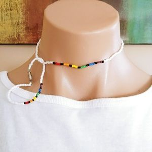 HANDMADE RAINBOW LOT OF 2PCS NECKLACE & BRACELET